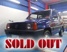 【SOLD OUT】FIAT Panda 4×4 4WD キャンバストップ